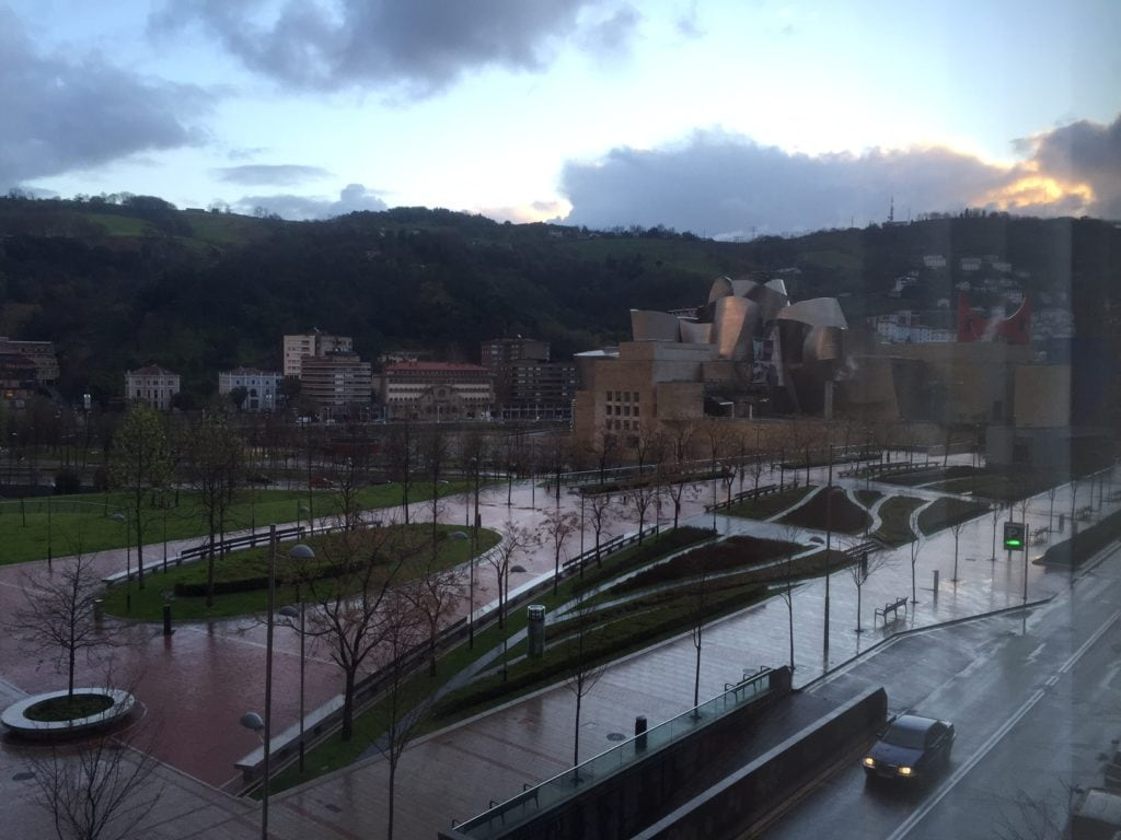 """We could see the Guggenheim from our room at Hotel Miro in Bilbao. - """"One Day in Bilbao"""" - Two Traveling Texans"""