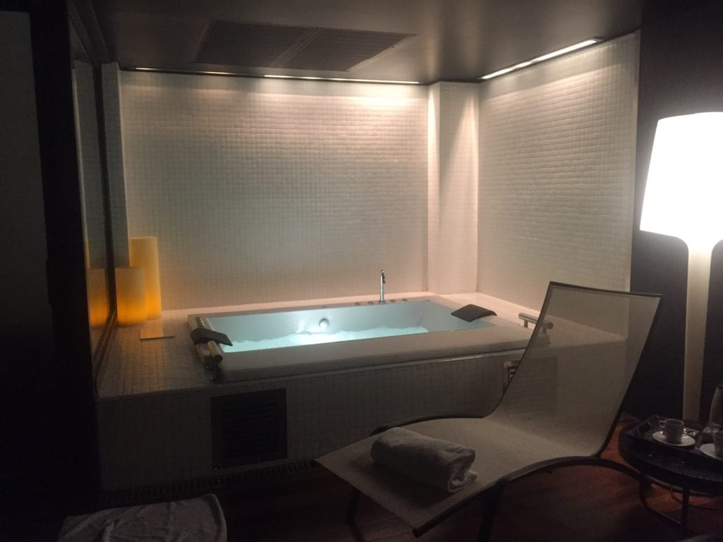 """The aqua wellness room was so peaceful and relaxing. - """"One Day in Bilbao"""" - Two Traveling Texans"""