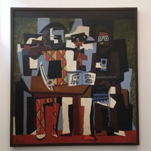 """Picasso's """"Three Musicians,"""" 1921 from the Philadelphia Museum of Art - """"Barcelona's Picasso Museum: Not What You Would Expect"""" - Two Traveling Texans"""