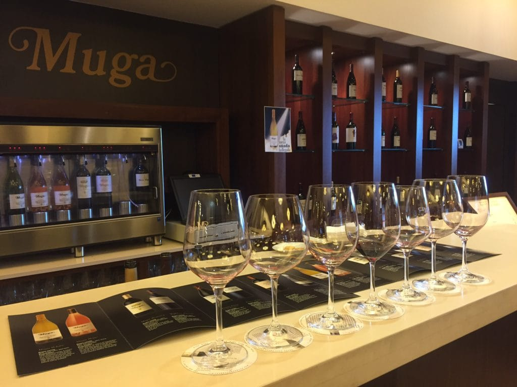 We had quite the Rioja tasting at Muga and it was nice that the coasters told you about the wine you were drinking.