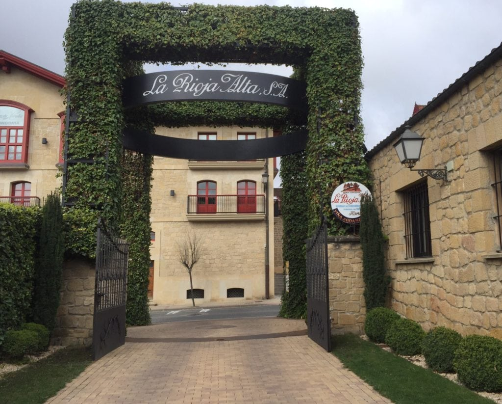 The entrance to La Rioja Alta tasting room.