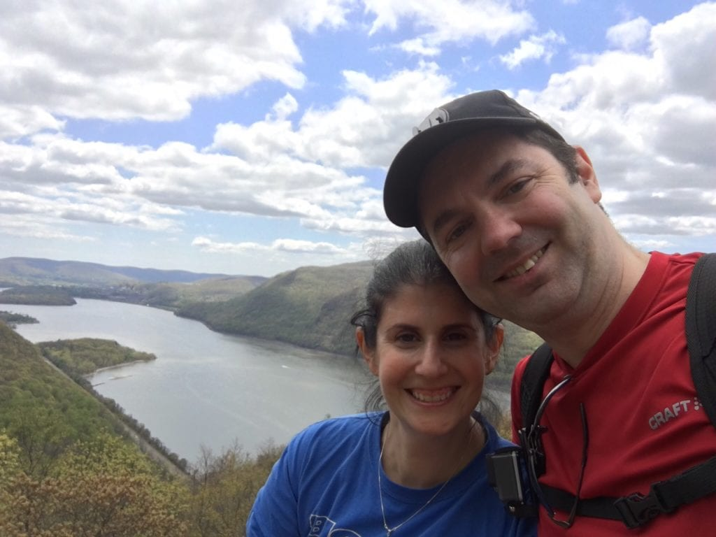 "Obligatory selfie! We were so lucky to have perfect weather. The sky was so beautiful. - ""Breakneck Ridge Lives Up To Its Name"" - Two Traveling Texans"