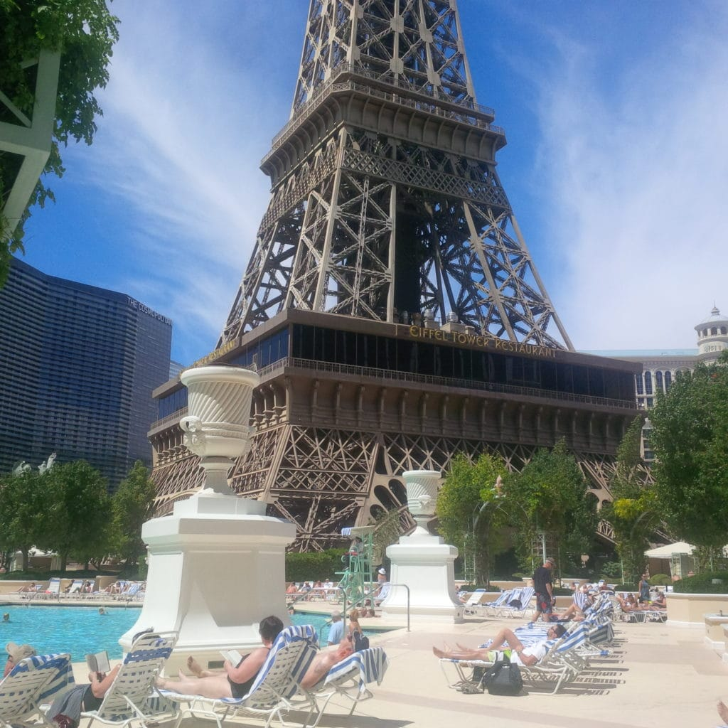 """The pool at the Paris Hotel - """"Five Tips to Help You Plan A Trip to Vegas"""" - Two Traveling Texans"""