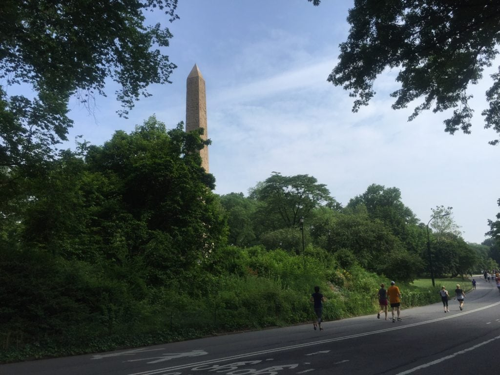 We saw the Obelisk also known as Cleopatra's Needle biking in Central Park.