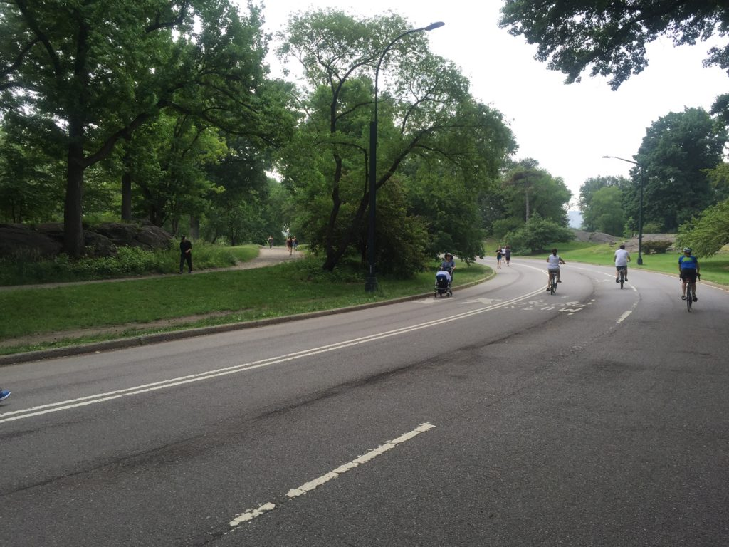 The six mile loop has lanes for biking in Central Park and running.