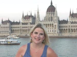 Katherine along the Danube in Budapest