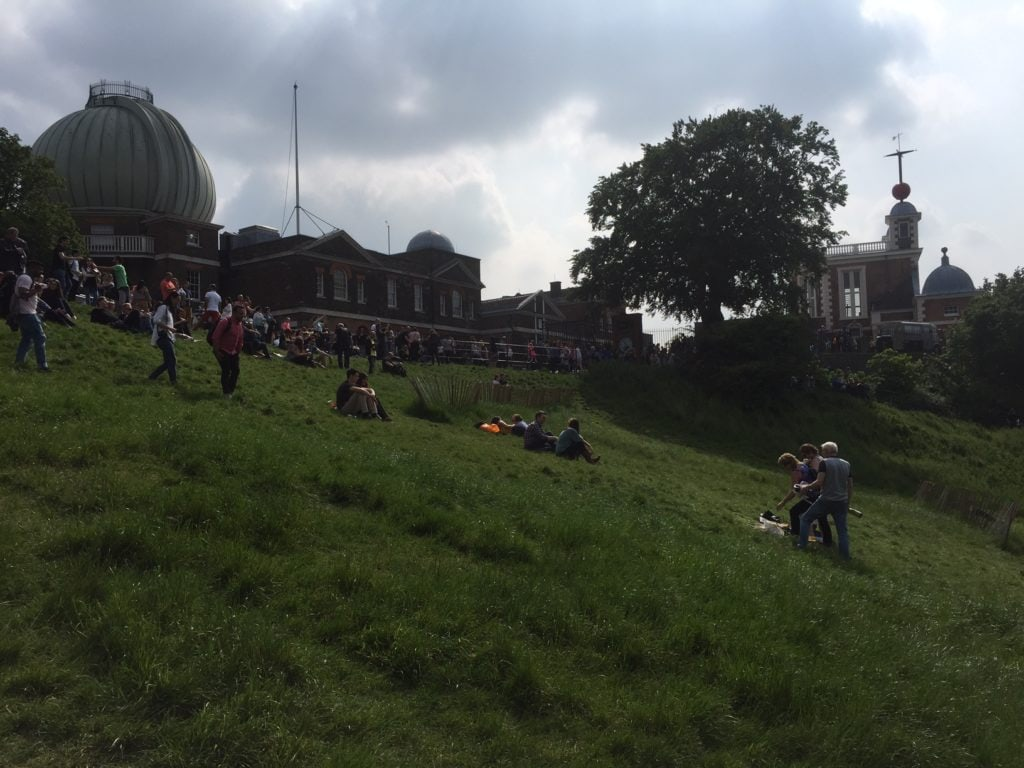 View of the Royal Greenwich Observatory from Greenwich Park.