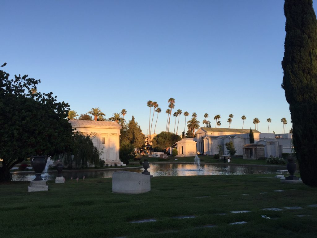 One of the more elaborate areas in the Hollywood Forever Cemetery