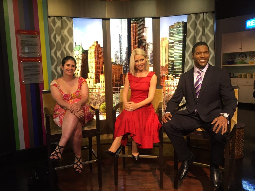 """Anisa with Kelly Ripa and Michael Strahan. This will need to be updated soon! - """"Madame Tussauds NYC Ghostbusters Dimensions Experience"""" - Two Traveling Texans"""