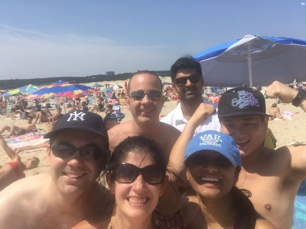 """Selfie! Our crew had a great time at Sandy Hook - """"Day trip to Sandy Hook, New Jersey"""" Two Traveling Texans"""