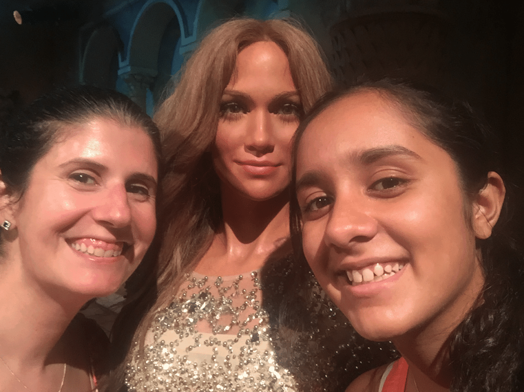 "Selfie with Jennifer Lopez - ""Madame Tussauds NYC Ghostbusters Dimensions Experience"" - Two Traveling Texans"