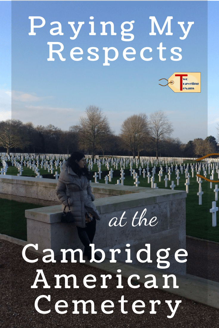 A travel blog about our visit to the Cambridge American Cemetery which honors Americans who served overseas during World War II.