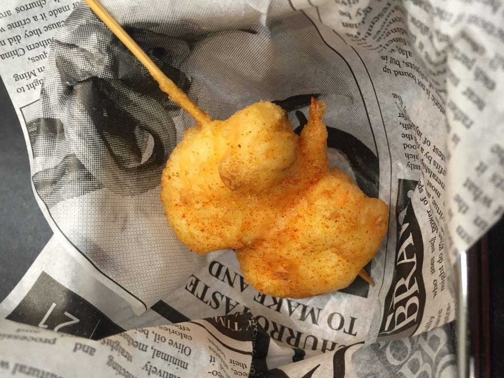 Gamba Gabardina - The Fried Shrimp we made in our Pintxos cooking class