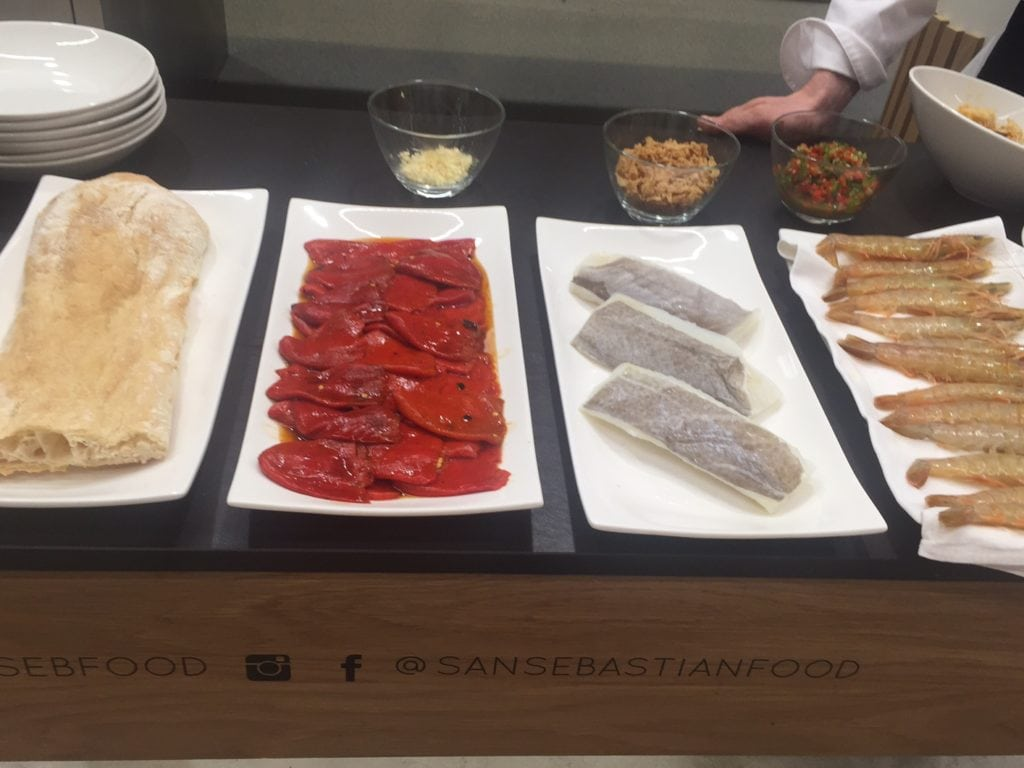 Some of the ingredients we would be using during our Pintxos Cooking Class.