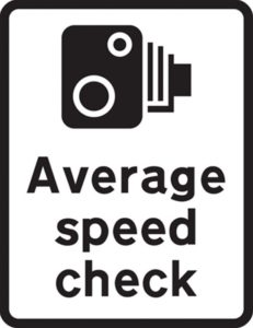 average-speed-check-sign