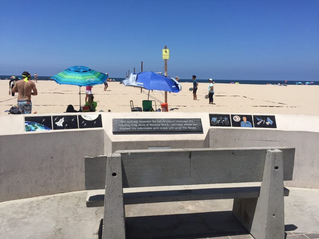 The Challenger Memorial in Hermosa Beach