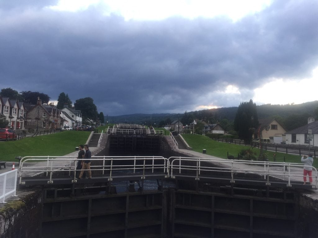 "The locks of the Caledonian Canal - ""Loch Ness: Searching for Nessie"" - Two Traveling Texans"