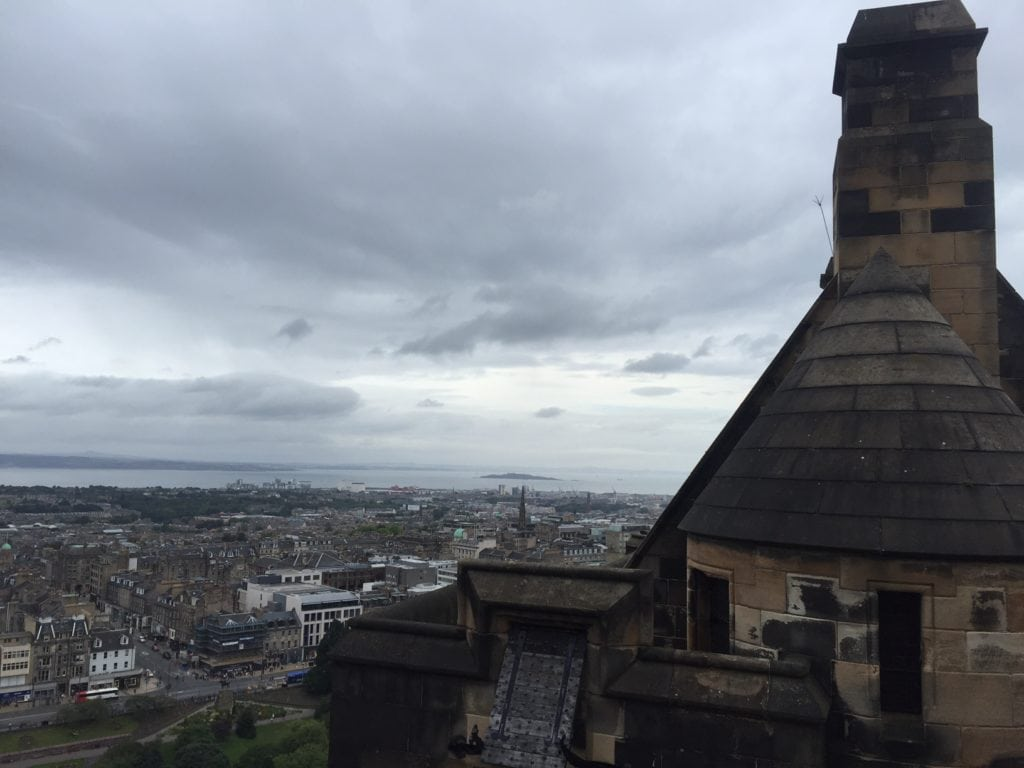 "One of the draws of the castle is the amazing views of the city of Edinburgh. - ""Experiencing History at Edinburgh Castle"" - Two Traveling Texans"