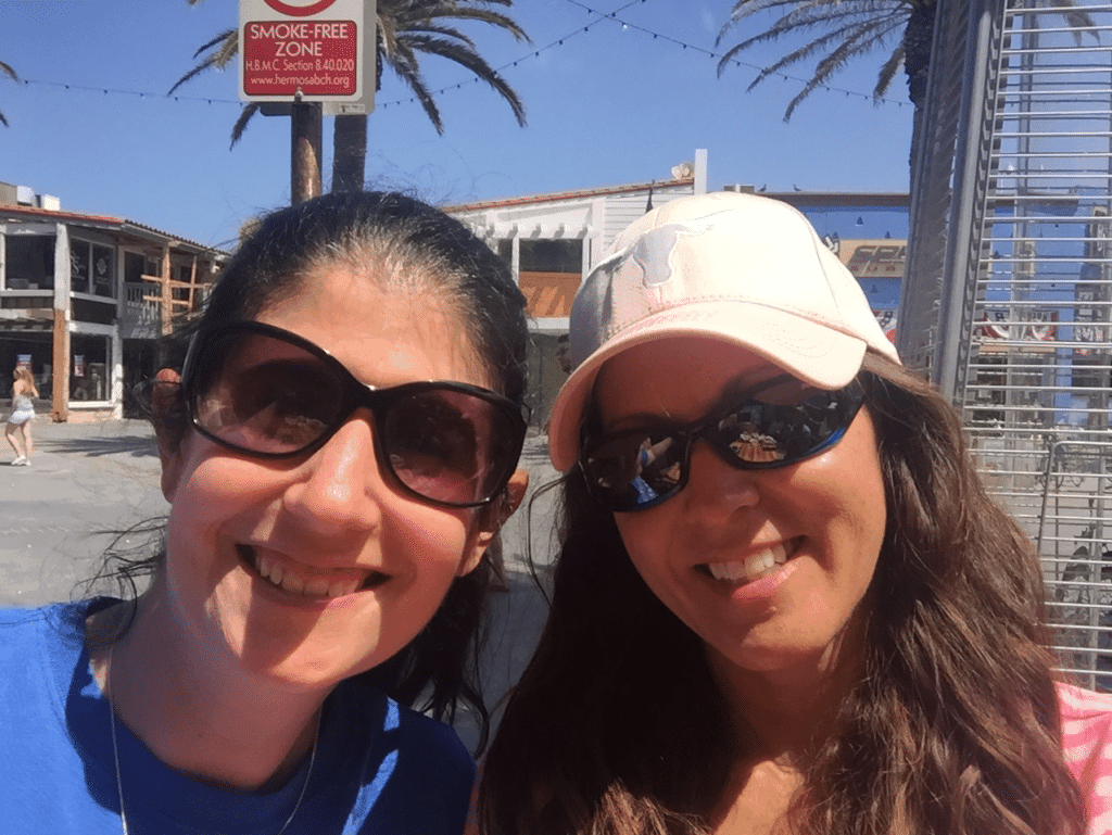 Selfie with Kat, while we were brunching on the Hermosa Beach Pier