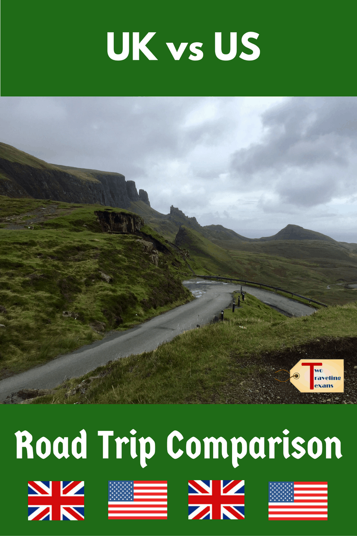 A travel blog about the surprising cultural differences I noticed between a road trip in the United States and one in the United Kingdom.