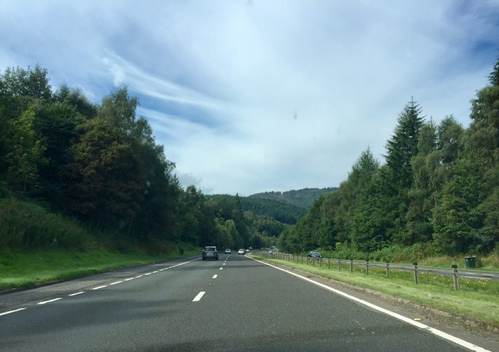 """A section where we had a dual carriageway or what I call a divided highway. - """"UK vs US: Road Trip Comparison"""" - Two Traveling Texans"""