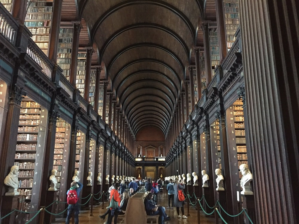 "The Long Room......just look at all those books! - ""The Book of Kells - A Medieval Treasure"" - Two Traveling Texans"