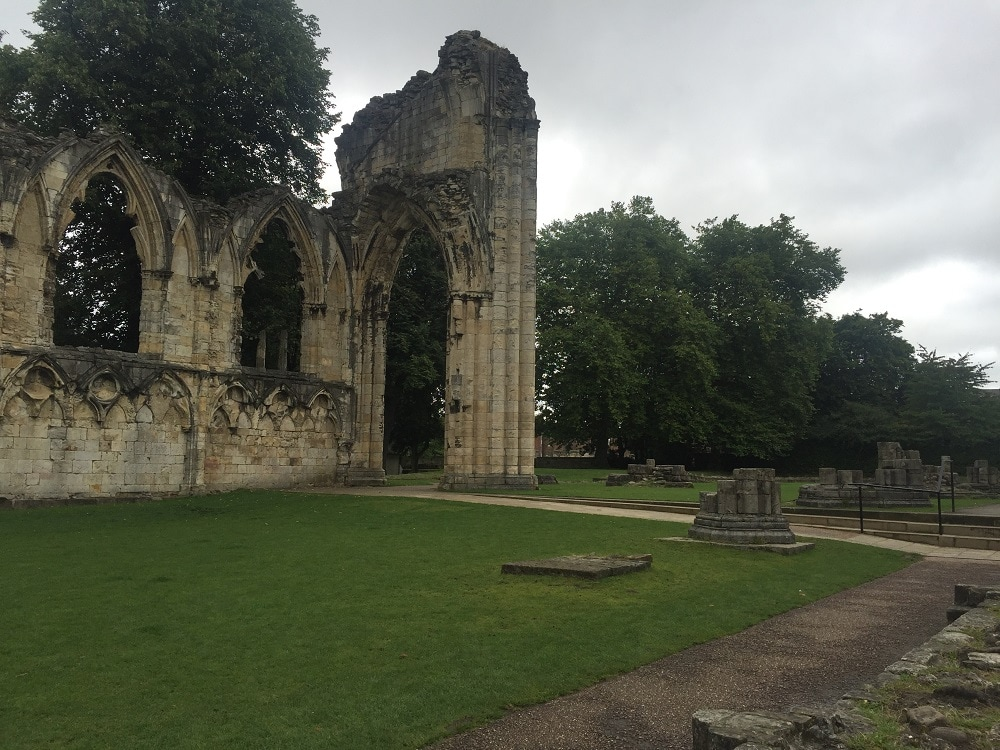 """St Mary's Abbey is now just ruins. - """"York: Five Must See Historic Sites"""" - Two Traveling Texans"""