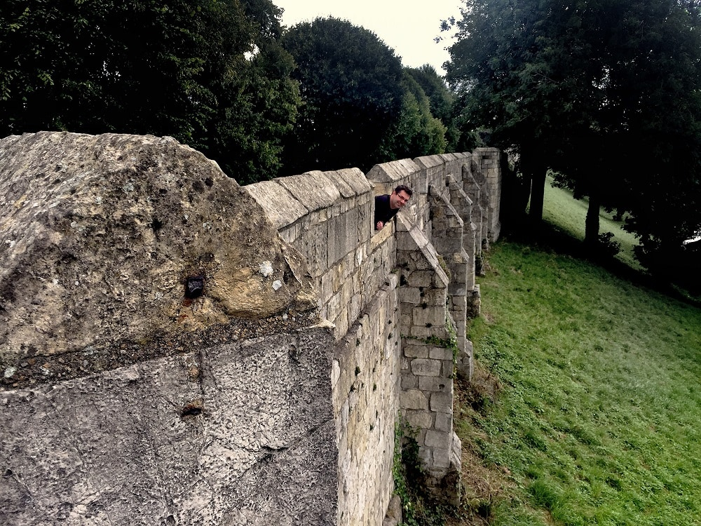 """Russell enjoying the York Wall Walk. - """"York: Five Must See Historic Sites"""" - Two Traveling Texans"""