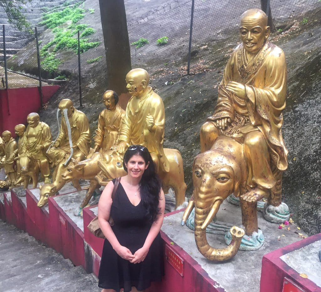 "Anisa and a few Buddhas.... - ""The Truth about the 10000 Buddhas Monastery"" - Two Traveling Texans"