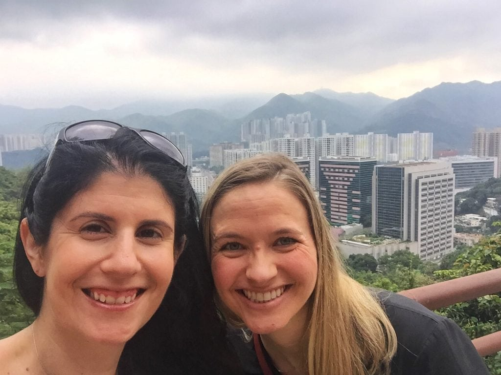 "Selfie with a view of Hong Kong in the background. Taken at the top level of the 10,000 Buddhas Monastery. - ""The Truth about the 10000 Buddhas Monastery"" - Two Traveling Texans"