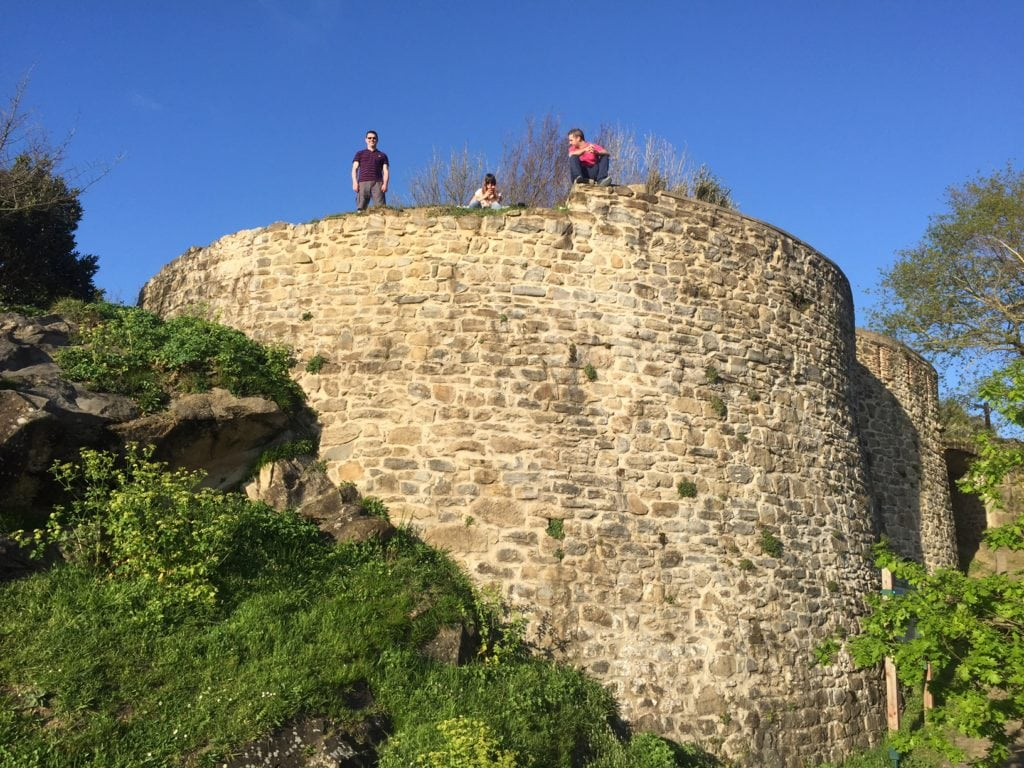 """Russell exploring more of the old buildings on Monte Urgull. -""""San Sebastian's Monte Urgull is Worth the Hike!"""" - Two Traveling Texans"""