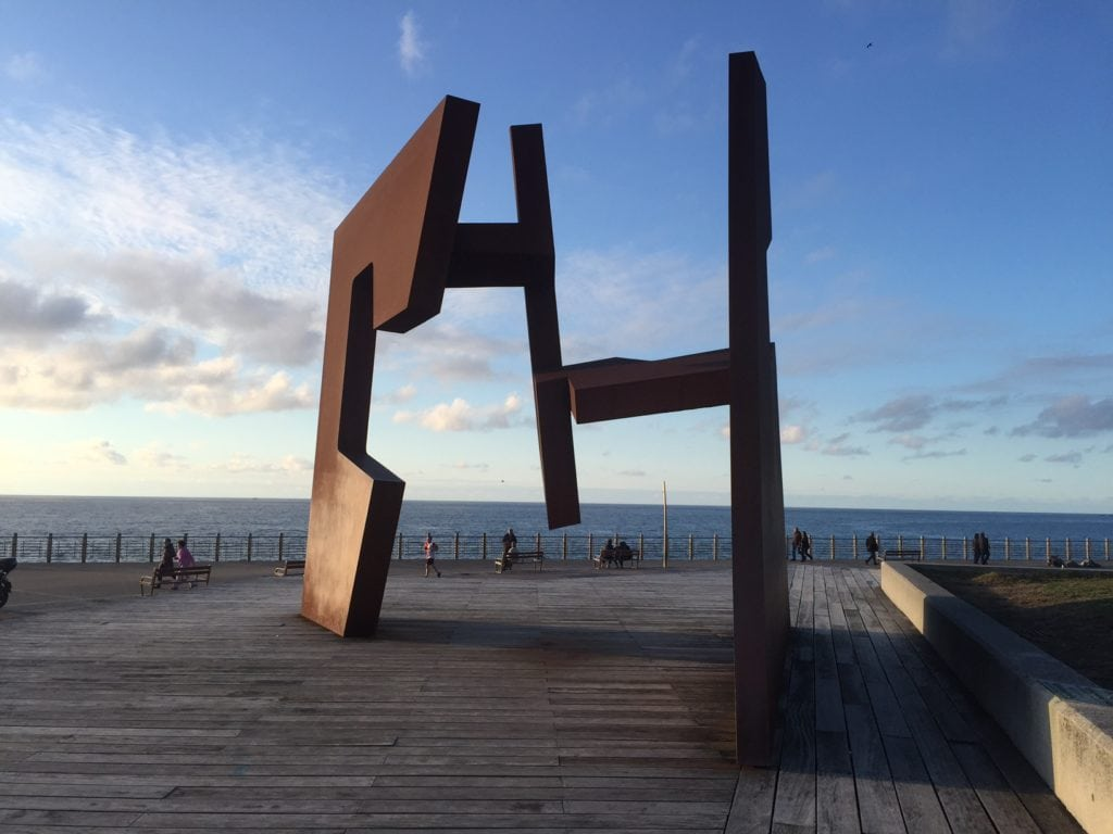 """I was really impressed by this sculpture called Open Construction by Jorge Oteiza. -""""San Sebastian's Monte Urgull is Worth the Hike!"""" - Two Traveling Texans"""