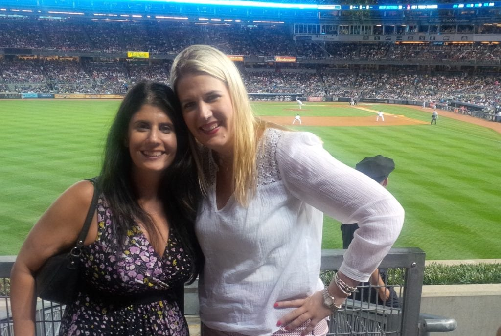 """Anisa and Katherine at Yankees Stadium - """"Our 2017 Travel Wish List"""" - Two Traveling Texans"""