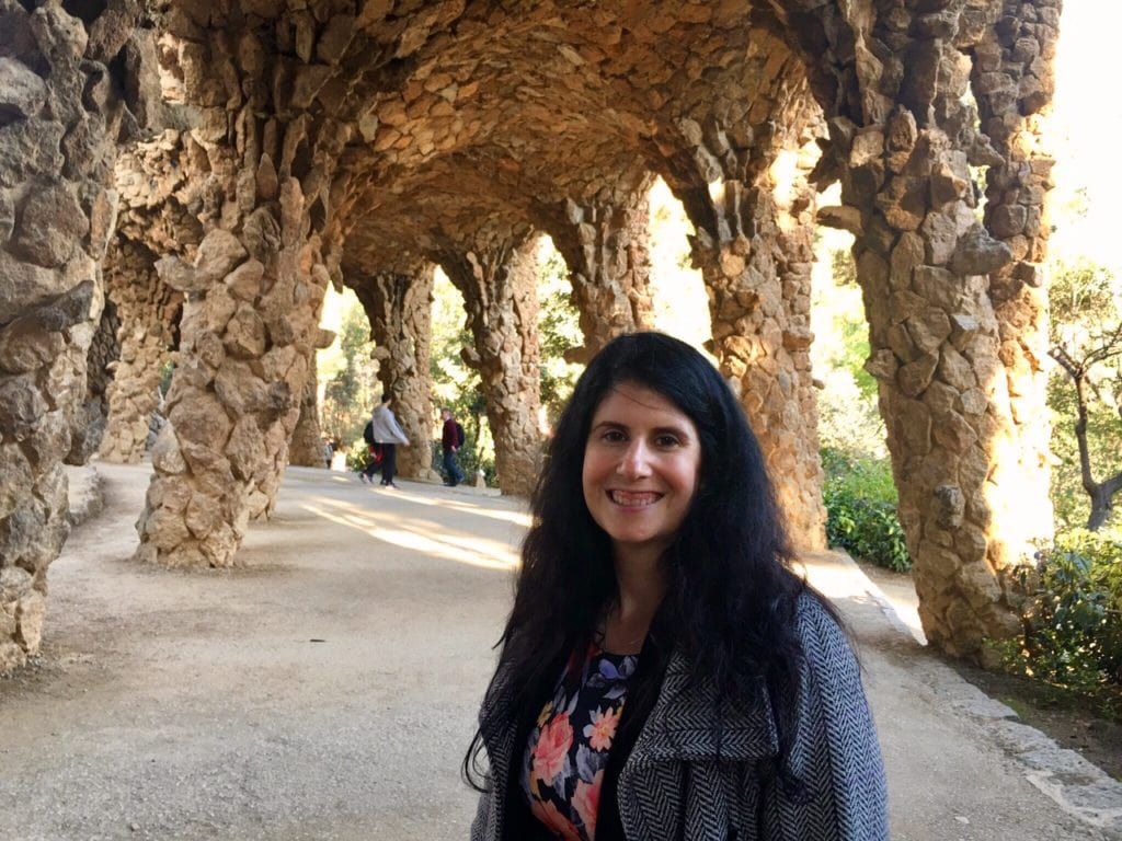 "Anisa in Park Guell. - ""Why I Fell in Love With Gaudi in Barcelona"" - Two Traveling Texans"