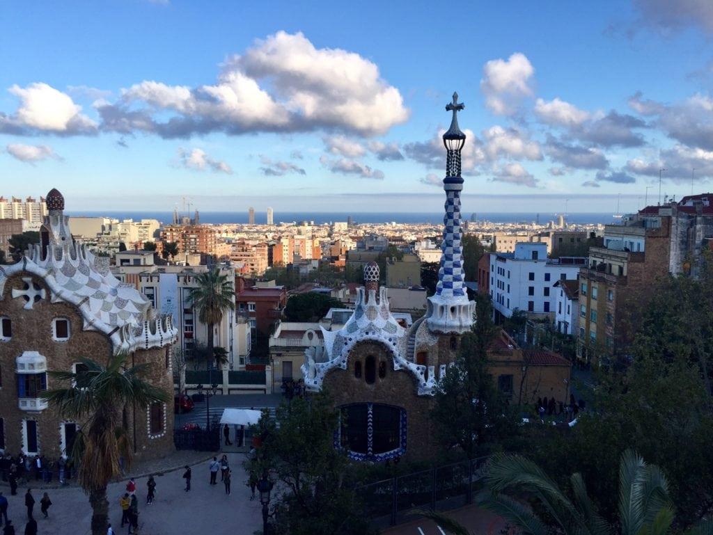 "Park Guell has impressive views since it is located on a hill. - ""Why I Fell in Love With Gaudi in Barcelona"" - Two Traveling Texans"
