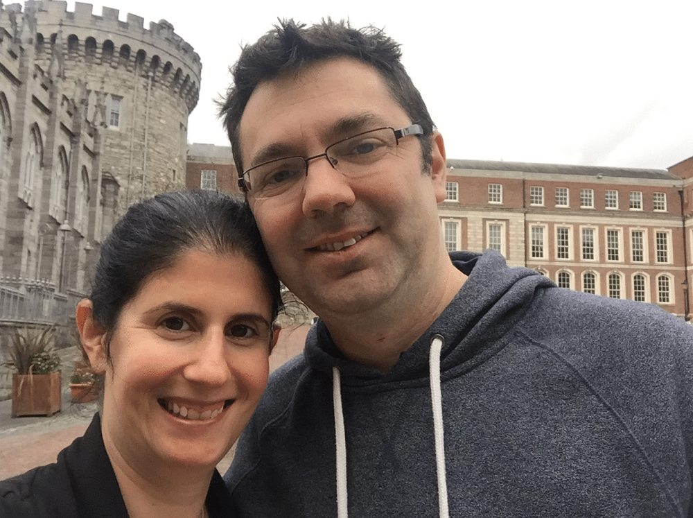 "Selfie in the courtyard of Dublin Castle - ""What You Need to Know About Visiting Dublin Castle"" - Two Traveling Texans"
