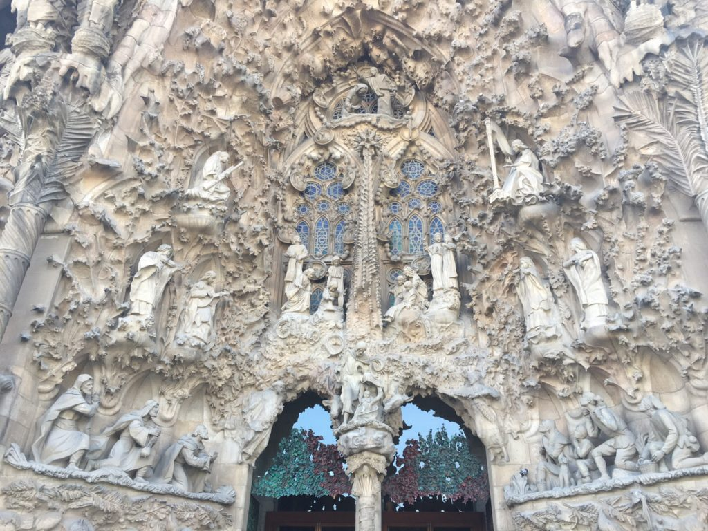 "Here is a glimpse of some of the detail work on the Nativity facade. - ""Why I Fell in Love With Gaudi in Barcelona"" - Two Traveling Texans"