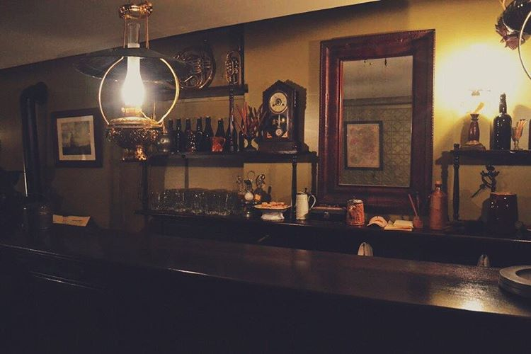 """A glimpse inside the German Beer Saloon on the first floor of 97 Orchard Street. - """"NYC Tenement Museum: Rediscovering the American Dream"""" - Two Traveling Texans"""