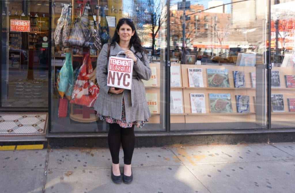 """Anisa in front of the Tenement Museum Visitor Center. - """"NYC Tenement Museum: Rediscovering the American Dream"""" - Two Traveling Texans"""