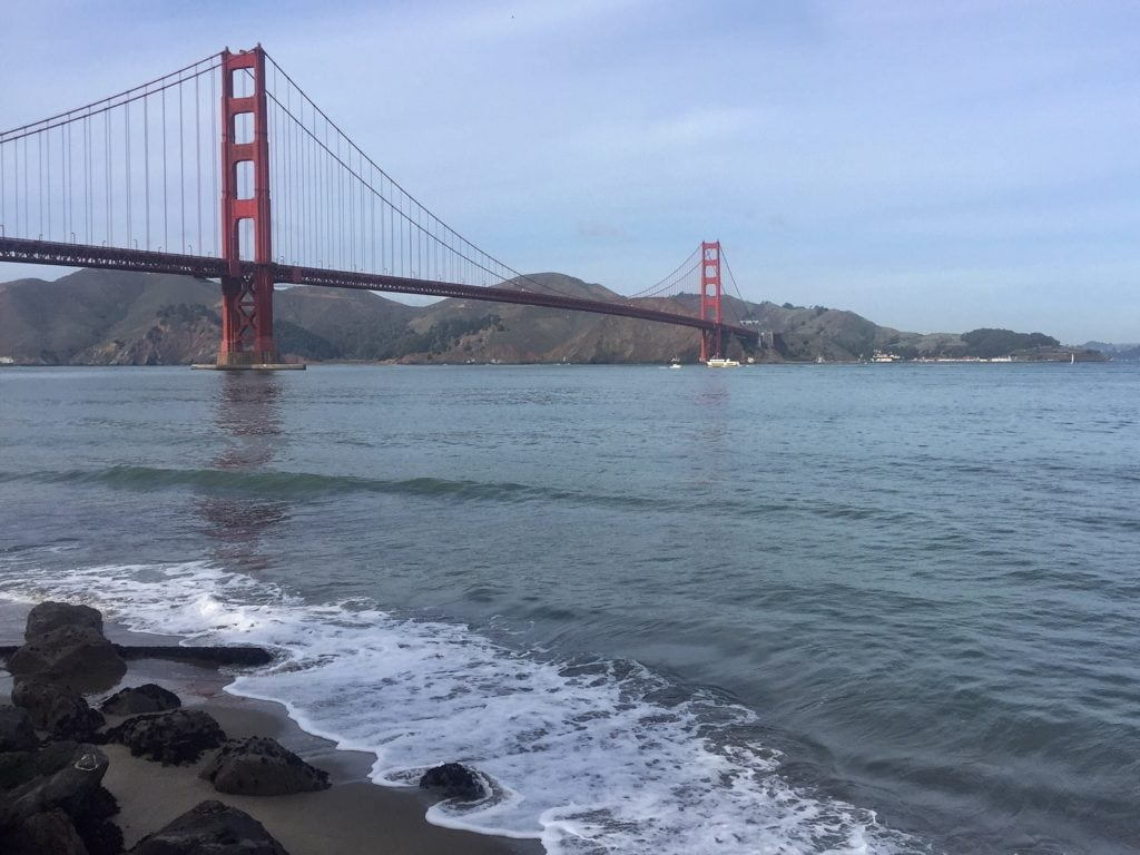 """The Golden Gate Bridge is just so iconic and arguably the most beautiful bridge in the world. - """"Biking Across the Golden Gate Bridge: Another off my Bucket List!"""" - Two Traveling Texans"""