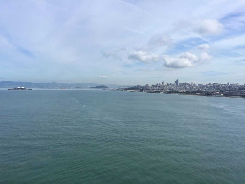 """From the Golden Gate Bridge, you can see San Francisco, Alcatraz, and even the Bay Bridge way in the distance. - """"Biking Across the Golden Gate Bridge: Another off my Bucket List!"""" - Two Traveling Texans"""