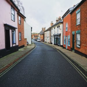 """Christmas Day is always quiet in England. Here is a shot of one of the main streets in Halesworth. - """"EU Flight Compensation Rules Simplified"""" - Two Traveling Texans"""