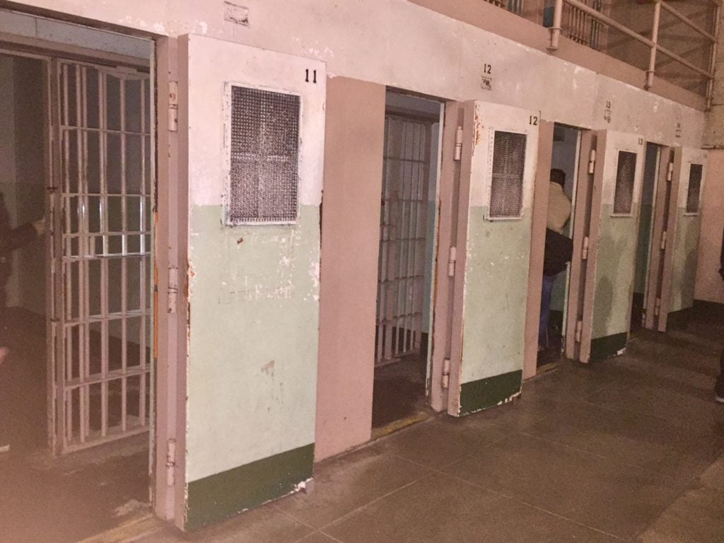 "The solitary confinement cells in Alcatraz. - "" Spend One Night at Alcatraz"""
