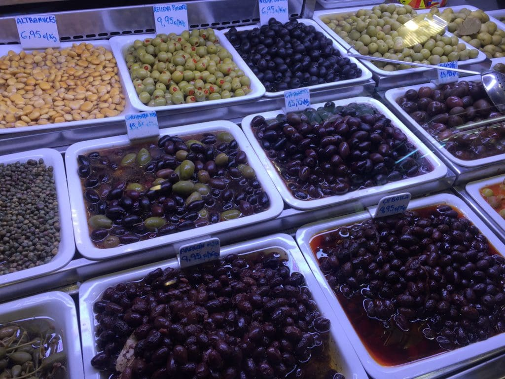 "A pretty impressive selection of olives at La Boqueria Market. - ""La Boqueria Market: Come Hungry!"" - Two Traveling Texans"