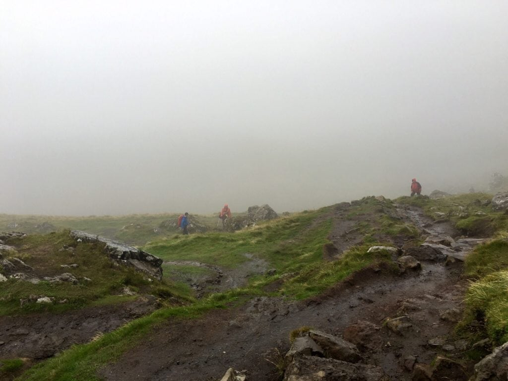 """The weather went from bad to worse! - """"Old Man of Storr: Hiking in the Clouds"""" - Two Traveling Texans"""