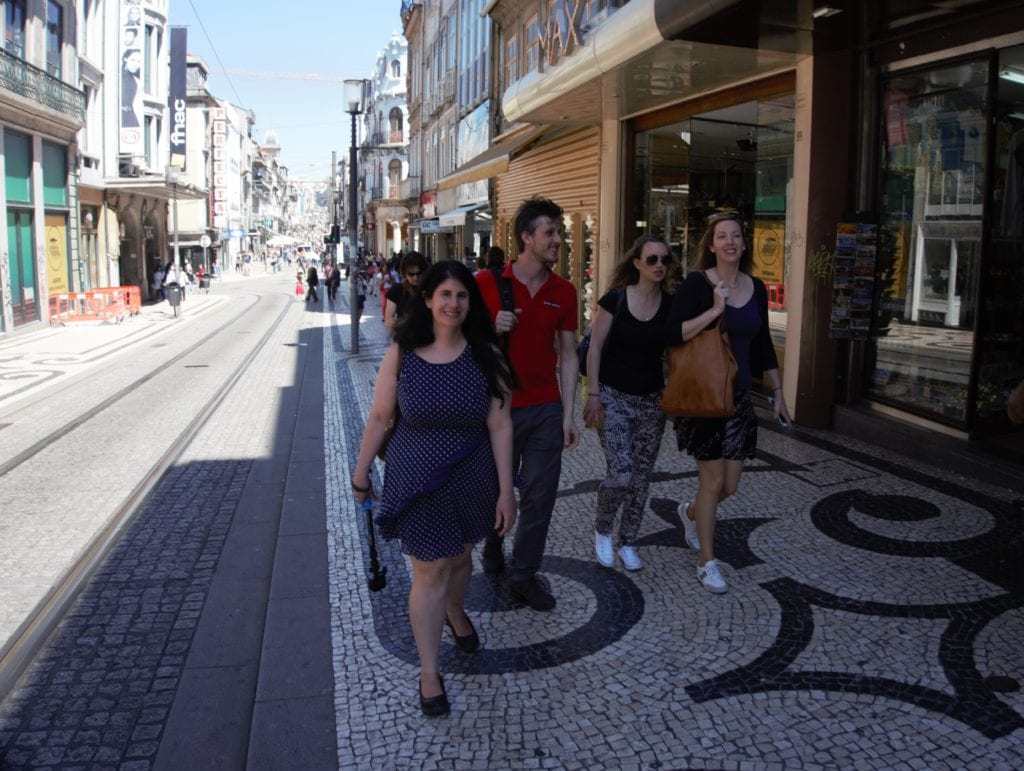 """Walking to our next stop - Porto is such a pretty city to explore. """"Porto Food Tour: Taste the Local Specialties"""" - Two Traveling Texans"""
