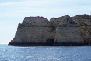 """The cliffs were really impressive, even from a distance. - """"Algarve Caves By Boat with Bom Dia"""" - Two Traveling Texans"""