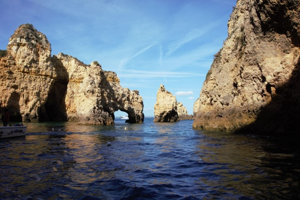 """These rock formations reminded me of El Arco in Cabo, Mexico. - """"Algarve Caves By Boat with Bom Dia"""" - Two Traveling Texans"""