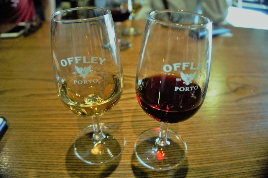 "The two ports from our Offley port tasting. - ""Port House Visits and Cable Cars"" - Two Traveling Texans"