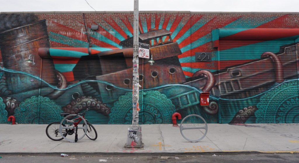 """I saw it from down the street and it just called to me. - """"Brooklyn Graffiti and Street Art Tour"""" - Two Traveling Texans"""